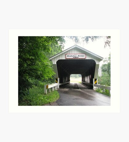 Historic Covered Bridge Art Print