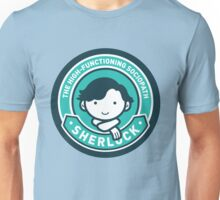 Cute Sherlock Holmes in Blue Unisex T-Shirt