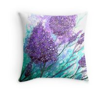 Lilac Ladies Throw Pillow