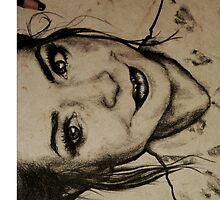 Zoella charcoal portrait. by Susanna Olmi