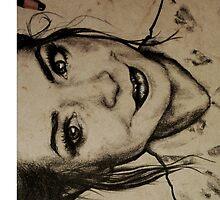 Zoella charcoal portrait. by Susanna Olmi