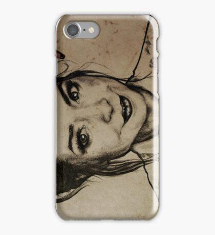 Zoella charcoal portrait. iPhone Case/Skin