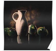 White Vase Poster