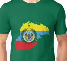 Colombia Map with Colombian Flag Unisex T-Shirt