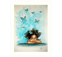 Blue thoughts....:) Art Print