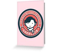 Cute Sherlock Holmes in Red Greeting Card