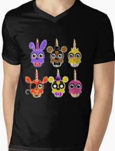 FNAF Cupcakes (6) Mens V-Neck T-Shirt