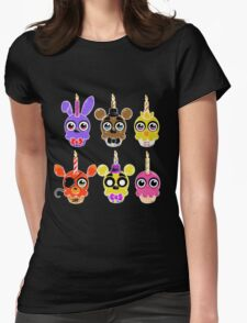 FNAF Cupcakes (6) Womens Fitted T-Shirt