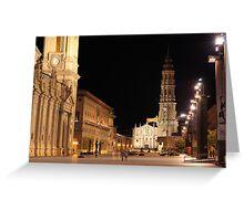 Plaza del Pilar, Zaragoza, Spain Greeting Card