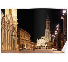 Plaza del Pilar, Zaragoza, Spain Poster