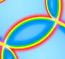 Rainbow Circles on Sky Sticker