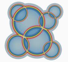 Rainbow Circles on Sky One Piece - Long Sleeve