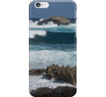 Boiling the Ocean at Laie Point, Oahu's North Shore in Hawaii iPhone Case/Skin