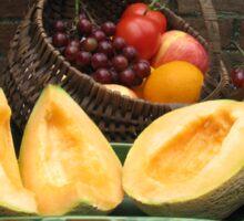 Antique Basket of Fruit Sticker