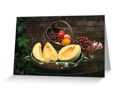Antique Basket of Fruit Greeting Card