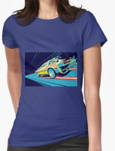 DeLorean- Back to the Future Womens Fitted T-Shirt