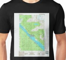 USGS TOPO Map Alaska AK Juneau B-2 SE 353681 1986 25000 Unisex T-Shirt