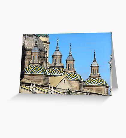 Tiles of Basilica de Nuestra Senora del Pilar, Zaragoza, Spain Greeting Card