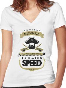 Admiral Kunkka Dota 2 Women's Fitted V-Neck T-Shirt