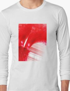 Red String Abstract  Long Sleeve T-Shirt