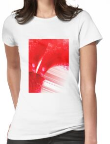 Red String Abstract  Womens Fitted T-Shirt
