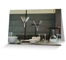Funnels, Flasks and Crucibles Greeting Card