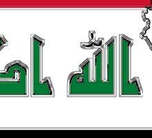 Iraq Map with Iraqi Flag Sticker