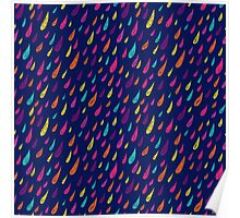 Coloured rain. Poster