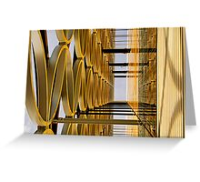 Golden Hoops Greeting Card