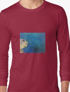 oil paint sea turtle Long Sleeve T-Shirt