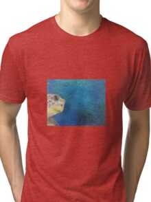 oil paint sea turtle Tri-blend T-Shirt