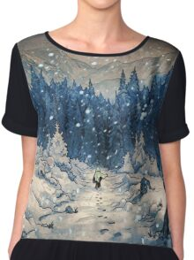 Snow Forest Chiffon Top