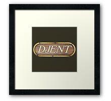 Djent Wood Sign Framed Print