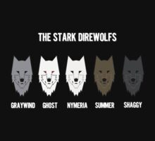 The Stark Direwolves by Iva Ivanova