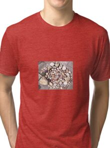 Pretty Stone and Shell Circle 1 Tri-blend T-Shirt