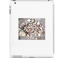 Pretty Stone and Shell Circle 1 iPad Case/Skin