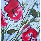 Poppy Pillow by Val Spayne