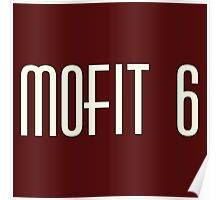 Mofit 6 Synth White Poster