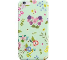 Garden Floral On Mint Green iPhone Case/Skin