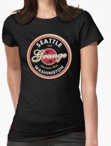 Grunge Seattle Washington Womens Fitted T-Shirt