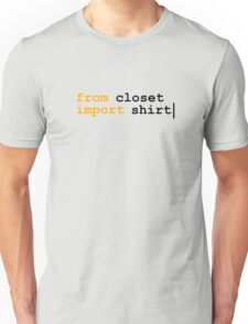 from python import witty shirt Unisex T-Shirt