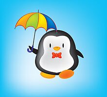 umbrella penguin by mangulica