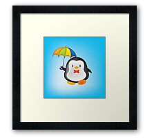 umbrella penguin Framed Print