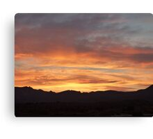 Wow, What a Sunset! Canvas Print