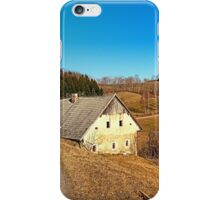 Traditional abandoned farmhouse | architectural photography iPhone Case/Skin