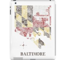 Baltimore city MD Flag Neighborhood Map iPad Case/Skin