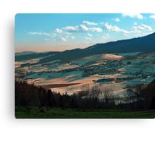 Winter wonderland valley scenery   landscape photography Canvas Print