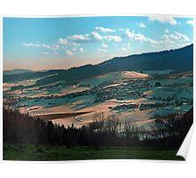 Winter wonderland valley scenery | landscape photography Poster