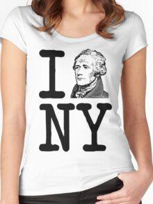 I HAMILTON NEW YORK Alexander Hamilton Greatest City in the World Aaron Burr  Women's Fitted Scoop T-Shirt