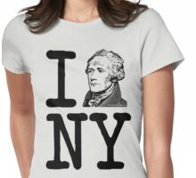 I HAMILTON NEW YORK Alexander Hamilton Greatest City in the World Aaron Burr  Womens Fitted T-Shirt